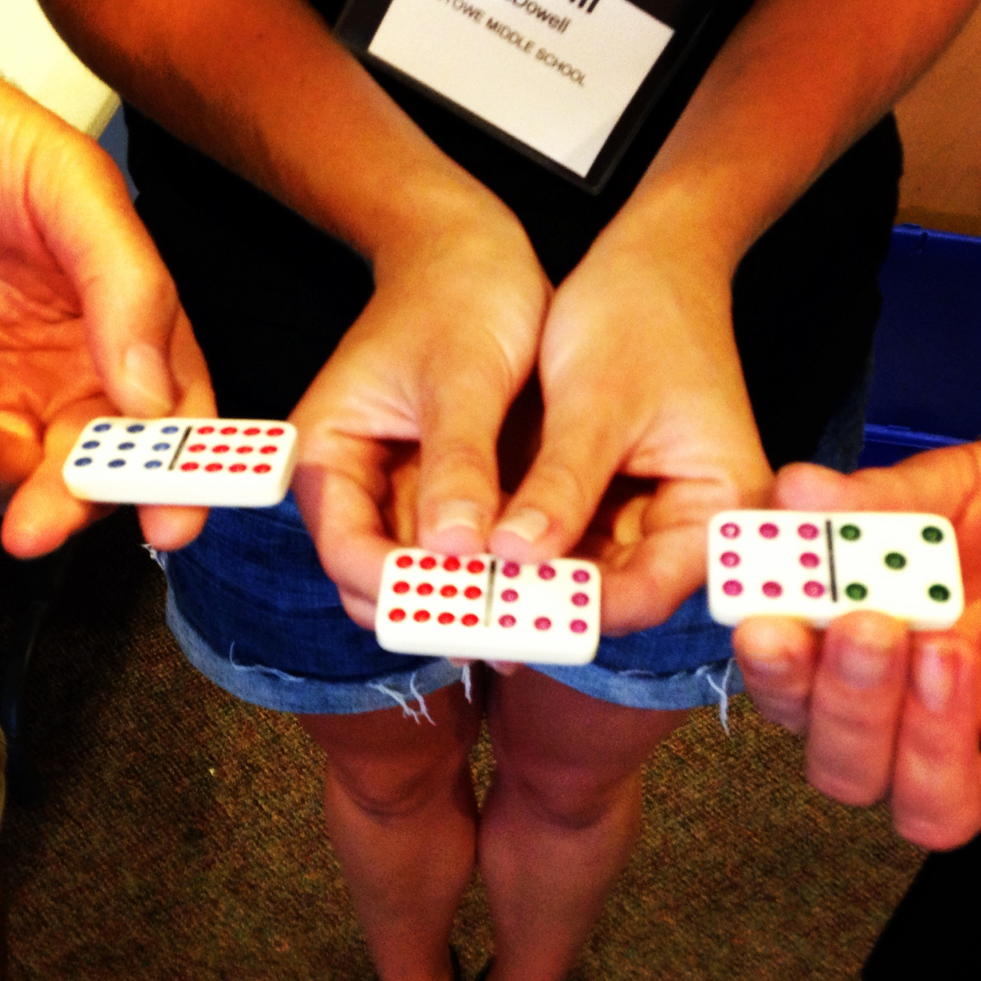 Domino Line Up Formative Assessment